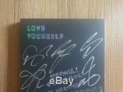 Bts Promo Love Yourself Tear Album Autographié Signée À La Main Type B Message