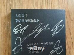 Bts Promo Love Yourself Tear Album Autographié Signée À La Main Type C Message