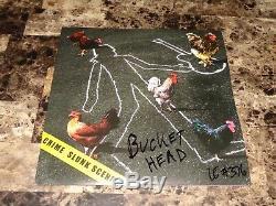 Buckethead Rare Slime Scene Autographiée Autographiée Autographiée Et Disque Vinyle
