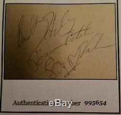 Buddy Holly Ritchie Valens Big Bopper Signée À La Main Autograph Page With2coa De