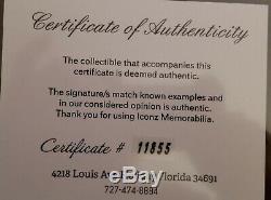 Buddy Holly Ritchie Valens Big Bopper Signée À La Main Autograph Page With2coa, 's