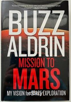 Buzz Aldrin Mission To Mars Livre Relié Autographié Et Signé Apollo 11 Nasa