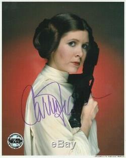 Carrie Fisher Signée À La Main Autograph 8x10 Photo Coa Star Wars