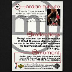 Carte D'insertion Autographe # 65 Avec Coa Signée Michael Jordan 1998 Dans Le Pont Supérieur