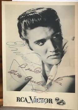 Carte Rca Signée À La Main Par Elvis Presley, Autographe En Personne 1959, Musée Des 2 Ac
