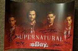 Ccsd 2019 Supernatural (dernière Saison), Affiche Autographiée 11x17, Affiche Affichée À La Main