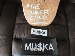 Chad Muska Skateboard Main Numero #8/10 Orange Silhouette Deck Autographé Nouveau