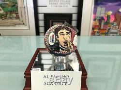 Charles Fazzino Al Pacino 3d Peint Baseball 1/1 Autographe Scarface