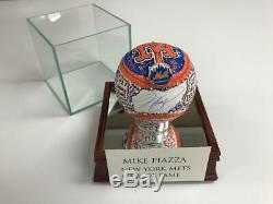 Charles Fazzino Mike Piazza 3d Peint Autograph Baseball Main Mets De New York Hof 2016