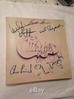 Chicago Group Album Dédicacé, Autographié À La Main, Lp Cetera Lamm Pankow Seraphine +