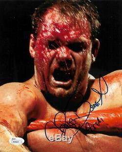 Chris Benoit Wwe Signée À La Main Photo Autographiée 4 Real Inscribed Jsa Coa P99829