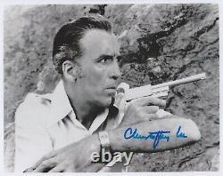Christopher Lee Hand Signé 8x10 Photo Autographe James Bond The Man Golden Gun D