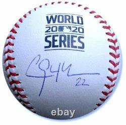 Clayton Kershaw Hand Signé Autographié 2020 World Series Baseball Dodgers Mlb