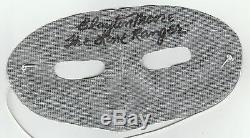 Clayton Moore Lone Ranger Mask Autographié Et Signé Avec Main
