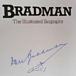 Cricket Don Bradman, Livre De Biographie Autographe Original Signé À La Main