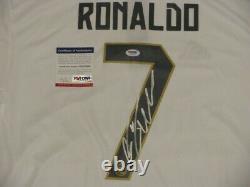 Cristiano Ronaldo Signé À La Main Soccer Jersey+ Psa Dna Acheter Genuine Real Madrid