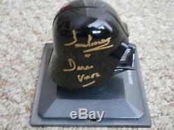 Darth Vader Casque Avec La Main De Cas Signé Gold Dave Prowse Star Wars Uacc