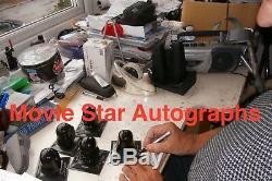 Dave Prowse Mini Casque Signé Darth Vader Signé Star Wars Avec Étui Photo Coa
