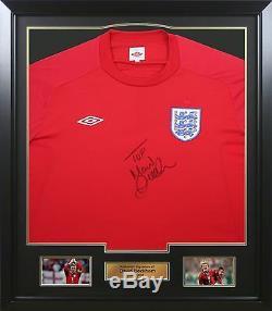 David Beckham Autographe Autographié D'une Chemise Framed & Genuine Signée À La Main (a)