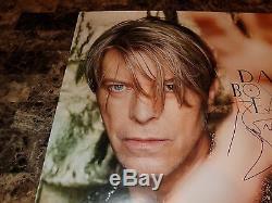 David Bowie - Affiche Promotionnelle Rare Et Authentiquement Signée À La Main, Dédicacée