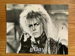 David Bowie Signé En Personne En Personne 6 X 7.5 Labyrinthe Noir Et Blanc Photo