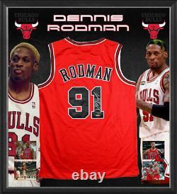 Dennis Rodman Signé À La Main Chicago Bulls Jersey Nba Basketball The Worm Jordan