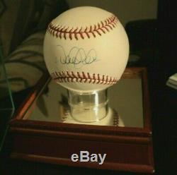 Derek Jeter Signée À La Main / Autographe Baseball Steiner Assermentée Avec Affichage