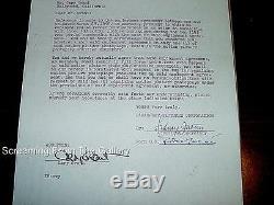 Document De Termination Signé À La Main De Cary Grant Signé 1959 Rare Autographié
