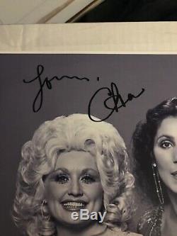 Dolly Parton Et Cher Originale Hand- Signé Autograph