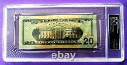 Donald Trump Signée À La Main Crisp Twenty Dollar (20 $) Projet De Loi Psa / Adn Assermentée