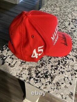 Donald Trump Signée À La Main Maga Officiel Red Hat Snapback Président Autographié