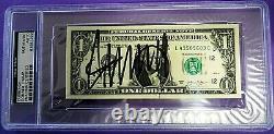 Donald Trump Signée À La Main One Dollar Crisp (1,00 $) Bill- Psa / Adn Assermentée