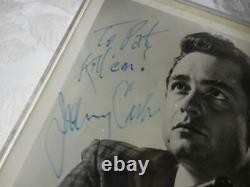 Early Johnny Cash Vintage Photo En Tant Qu'acteur Avec Gun Hand Signé Autographed Kill Em
