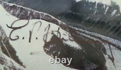 Edmund Hillary & Tenzing Norgay Main Signée Mt Everest Photo