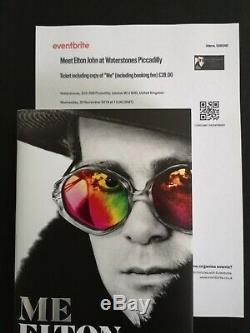 Elton John Livre Signée À La Main Me Obtenu En Personne Signature Waterstones + Bracelet