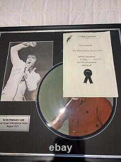 Elvis Presley Signée À La Main Personnellement Autograph Encadrée Image Et Menu Avec Coa