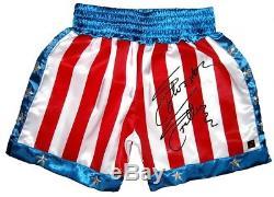 Encadré Sylvester Stallone Signé Sous Licence Officielle Rocky IV Shorts Aftal