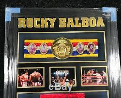 Encadré Sylvester Stallone Signée À La Main Rocky IV Licence Officielle Shorts Aftal