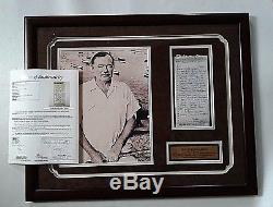 Ernest Hemingway Lettre Signée Papa À Marie Mary Als Tout Dans Sa Main Coa Jsa