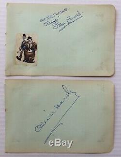 Et Hardy Laurel. Signatures Véritables Handsigned