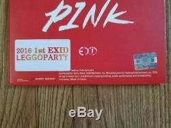 Exid Digital Single Hot Pink Promo Album Autographié Signée À La Main