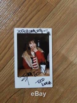 Exid Herin Réel Polaroid Autographié Signée À La Main