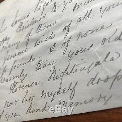 Florence Nightingale Lettre Souhaitable En Lettres Manuscrites Au Chirurgien