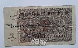 Frank Lloyd Wright Note Manuscrite Et Signée Dans Sa Main Pour Bonne Chance Vers 1923