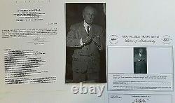 Frank Lloyd Wright Signée À La Main 5x10 Photo Pour 1958 Apprenti Daté Avec 2 Coa