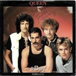 Freddie Mercury Signée À La Main Reine Radio Ga Ga Autographié 7 Vinyle Originale Sig