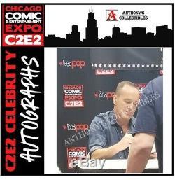 Funko Pop! L'agent Marvel Vaulted Coulon # 53 Clark Gregg C2e2 Autographié À La Main