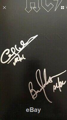 Groupe Ac / DC Signée À La Main Autographié Back In Black Lp Album Par Les Cinq Membres
