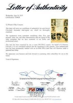 Grover Cleveland Alexander - Carte All Star Autographiée Et Signée Autographiée - Psa / Adn