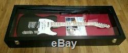 Guitare Electrique Pour Aile Fender Autographe Signee A La Main Tom Petty! Withcoa Et Cas D'affichage